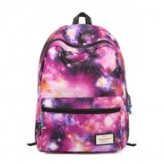 Retro Galaxy Colorful Couple Waterproof Backpack School Bag