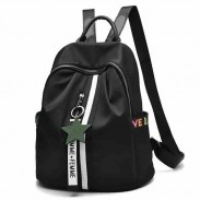 Unique Black White Stripe Oxford School Star Decor School Backpack