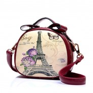 Retro Graffiti Tower Shoulder Bag Messenger Bag
