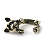 Lovely Dog Gold Color Opening Rings