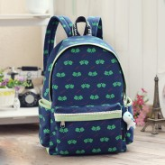 Fresh Four-leaf Clover Floral Pattern Lace School Bag Travel Computer Backpack