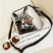 Lovely Cat Retro Character Fashion Shoulder Bag