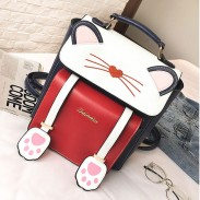 Cute Cartoon Sweet Animal Kitten School Bag Cat Girl Backpack