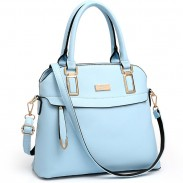 Elegant PU Shell Shape Zipper Leisure Shoulder Bag Colorful Women Handbag