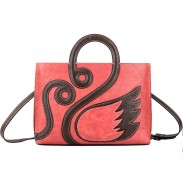 Vintage Creative Swan Handmade Large 3D Handbag Shoulder Bag