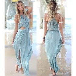 Sexy Slit Long Beach Dresses