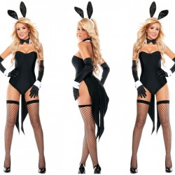 Sexy Halloween Costume Bunny Seduction Cosplay Costume Conjoined Lingerie