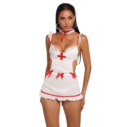 Sexy French Maid Outfit Cosplay Costume Bowknot Backless Nightgown Babydoll Women's Lingerie