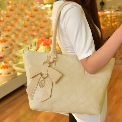 Fashion Simple Bowknot Quilted Shoulder Bag
