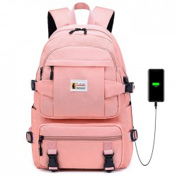 Leisure Four Buckle Large Capacity Outdoor Middle Student School Bag Waterproof Backpack