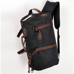 Fashion Large Capacity Cylindrical Canvas Travel Backpacks