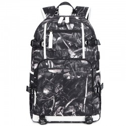 Leisure Water Fire Print Large-capacity Computer Teen Backpack Waterproof For Middle School Backpack