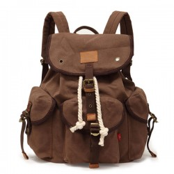 Casual Canvas Buckle Backpack Travel Bag
