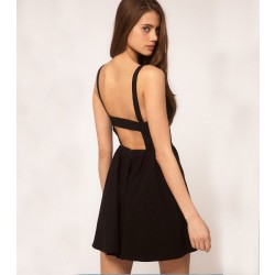 European Style Sexy Nightclub Fashion Halter Dress