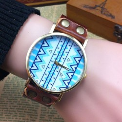 Original Geometric Totem Retro Watch