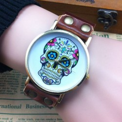 Unique Skull Printing Retro Punk Watch