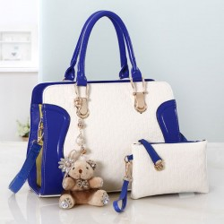 Fashion Embossed Bear Handbags Shoulder Bags
