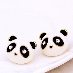 Sweet Drip Diamond Eyes Lovely Animals Little Panda Earrings