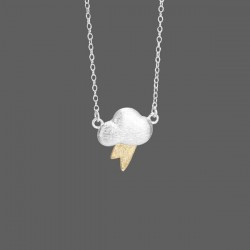 Lovely Cloud Lightning Pendant Necklace/925 Sterling Silver Jewelry