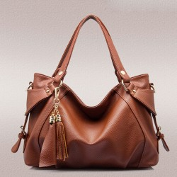 Elegant Tassel Leather Shoulder Bag Handbags