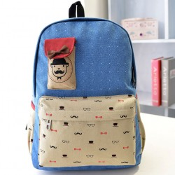 Bow Dot Printing Leisure College Backpacks