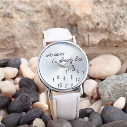 Fashion Simple Digital Metal PU Watch