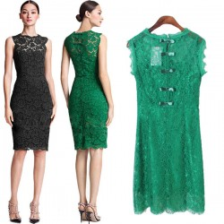 Temperament Lace Sexy Bow Ladies Dress