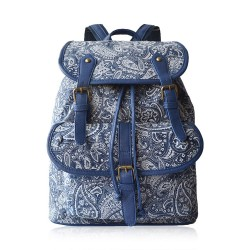 Elegant Retro Fresh Blue And White Chinese Style Cavans Backpack Travel Bag