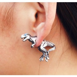 Stylish 3D Dinosaur Animal Stud Earrings