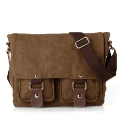 Casual Retro Soild Canvas Shoulder Bag