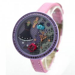 Purple Lovely Princess Life Polymer Clay Watch