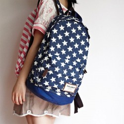 Lovely Star Print Denim Backpacks