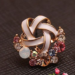 Colorful Flower Crystal Earring Studs
