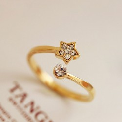 Fresh Lovely Diamond Star Opening Ring