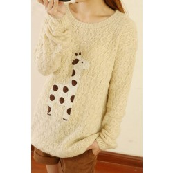 Sweet Style Lovely Fawn Sleeve Sweater&Cardigan