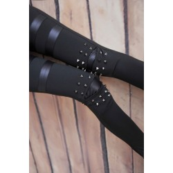 Retro Personality Rivet Leather Leggings