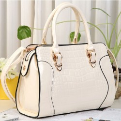Fashion Elegant Croco Hardcover Handbag & Shoulder Bag