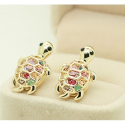 Lovely Lovely Rhinestone Turtle Animal Earrings