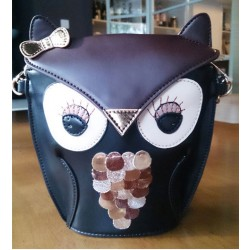 Retro Cartoon Lovely Owl Messenger&Shoulder Bag