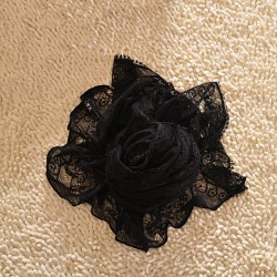 Sexy Playful  Black Hollow Out  Lace  Infinity Scarf