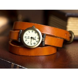 Retro Three Laps Wound Leather Strap Retro Watch