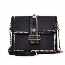 Elegant Square Lady Single Button Shoulder Bag Chain Messenger Bag