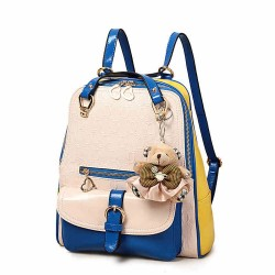 Fashion Contrast Color Preppy School Backpack