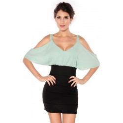 Simple Strapless Sling Dress OL Dress