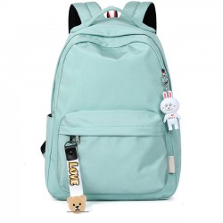 Fresh Simple Pure Color Large Waterproof High School Bag Student Backpack