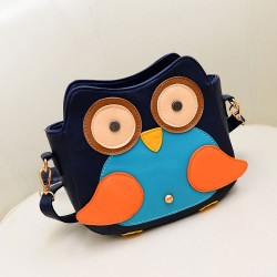 Lovely Lovely Owl Contrast Color Graffiti Print Shoulder Bag