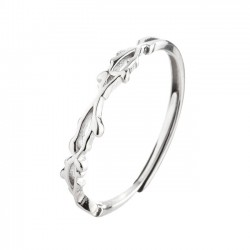 Cute Silver Thorns Open Adjustable Open Female Ring