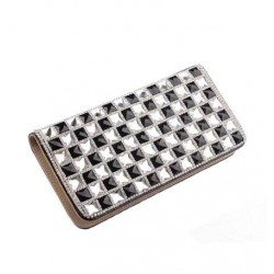 Fashion Leather Rhinestone Crocodile Long Wallet