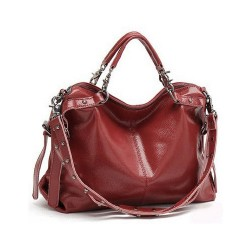 Fashion Rivet Casual Leather Shoulder Bag&Handbag