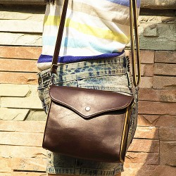 Retro Brown Envelope Shoulder Bag&Messenger Bag